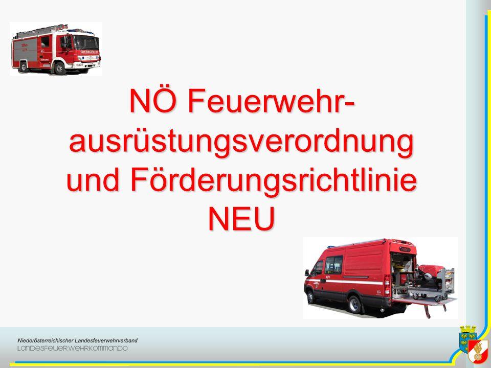 NÖ Feuerwehr-ausrüstungsverordnung und Förderungsrichtlinie NEU