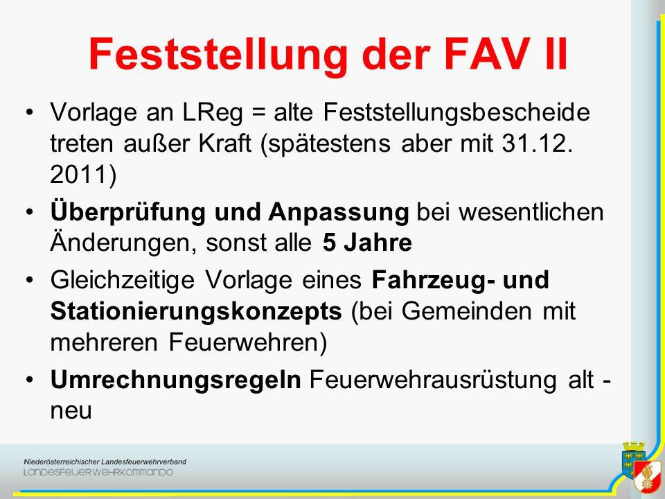 Feststellung der FAV II