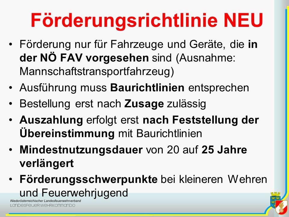 Förderungsrichtlinie NEU
