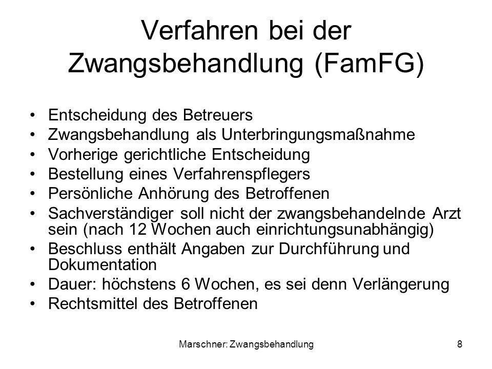 Verfahren bei der Zwangsbehandlung (FamFG)