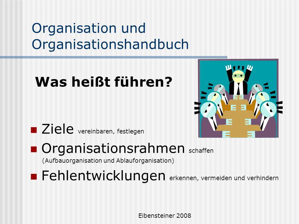 Organisation und Organisationshandbuch