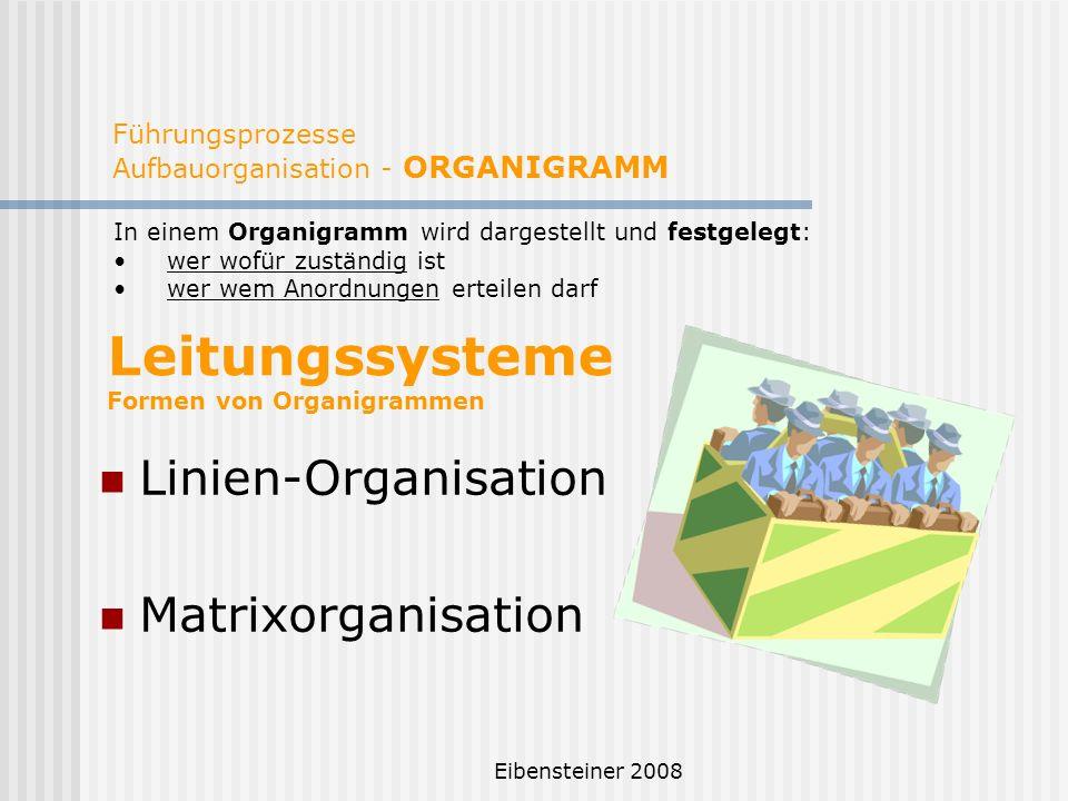 Führungsprozesse Aufbauorganisation - ORGANIGRAMM