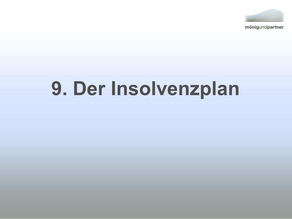 9. Der Insolvenzplan