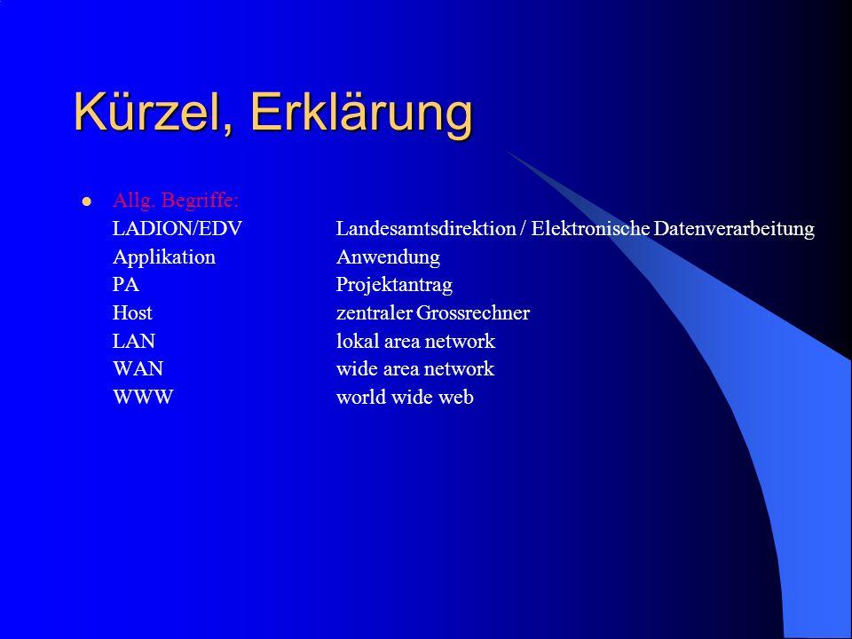 Kürzel, Erklärung Allg. Begriffe: