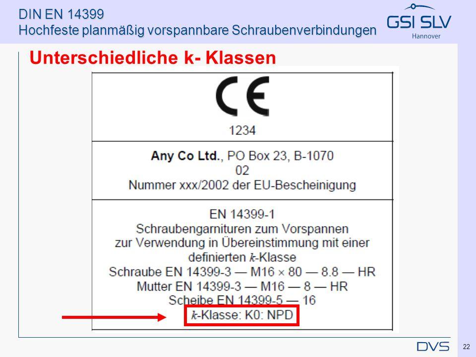 DIN EN 14399 Hochfeste planmäßig vorspannbare Schraubenverbindungen