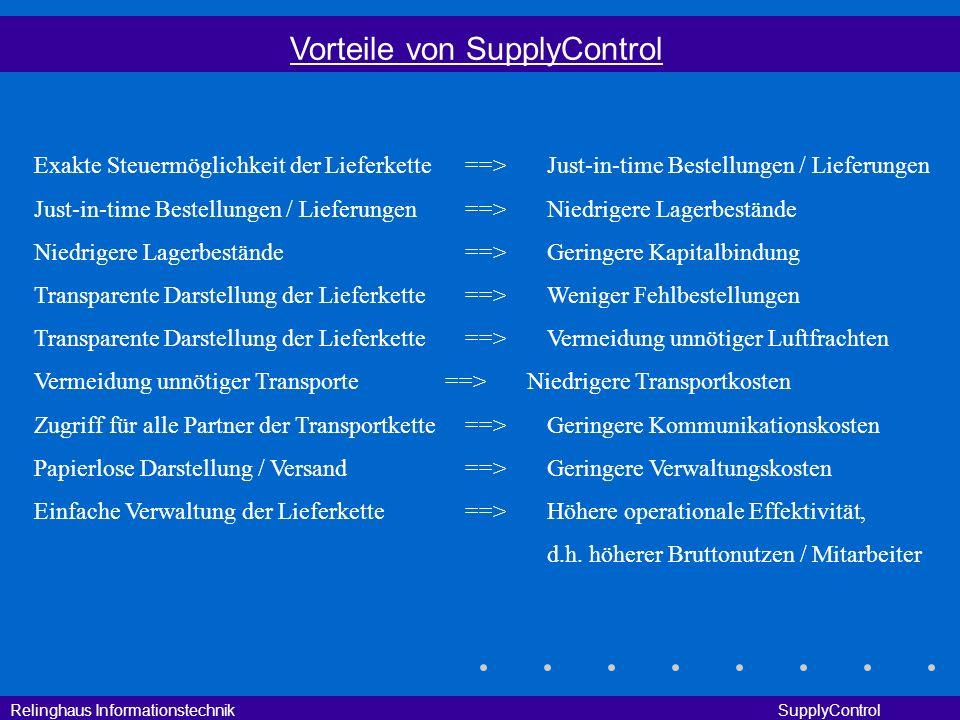Vorteile von SupplyControl
