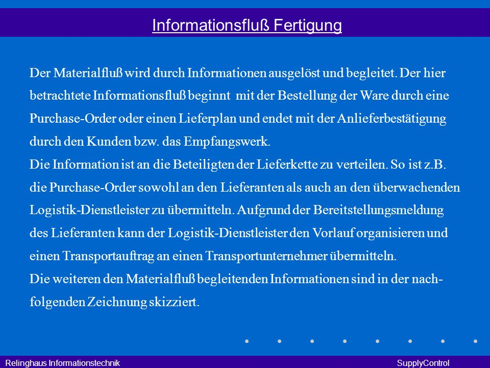 Informationsfluß Fertigung