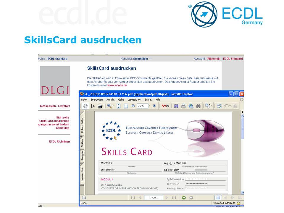 SkillsCard ausdrucken