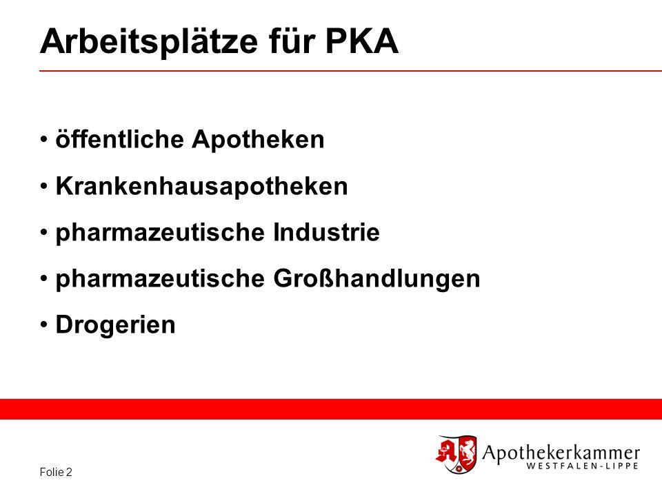 Arbeitsplätze für PKA öffentliche Apotheken Krankenhausapotheken