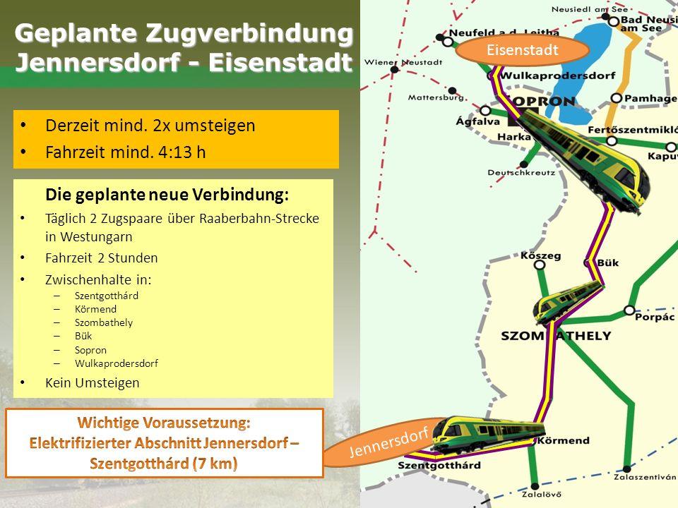 Geplante Zugverbindung Jennersdorf - Eisenstadt