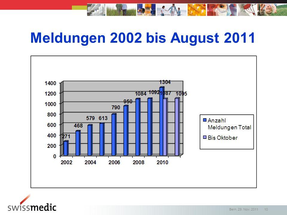 Meldungen 2002 bis August 2011