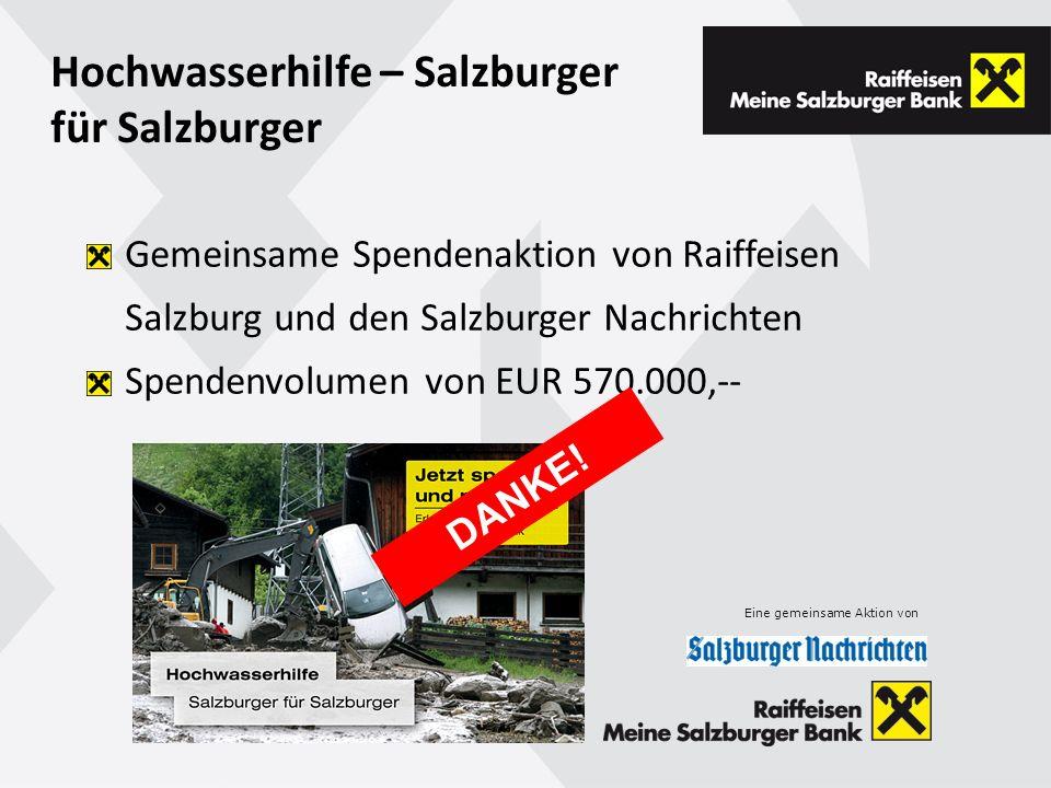 Hochwasserhilfe – Salzburger für Salzburger