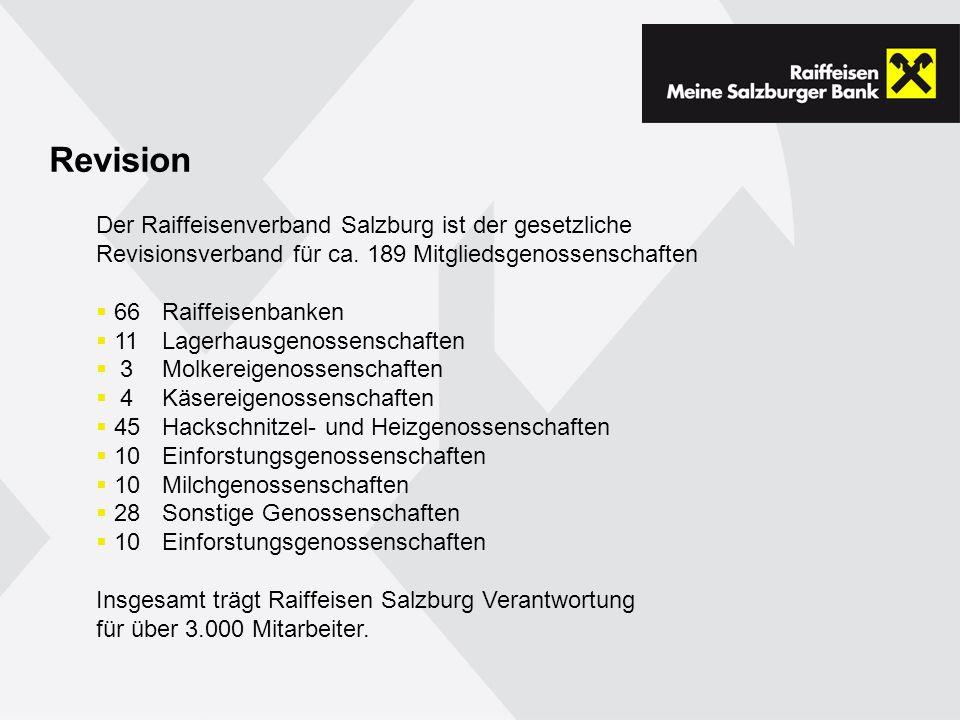 Revision Der Raiffeisenverband Salzburg ist der gesetzliche