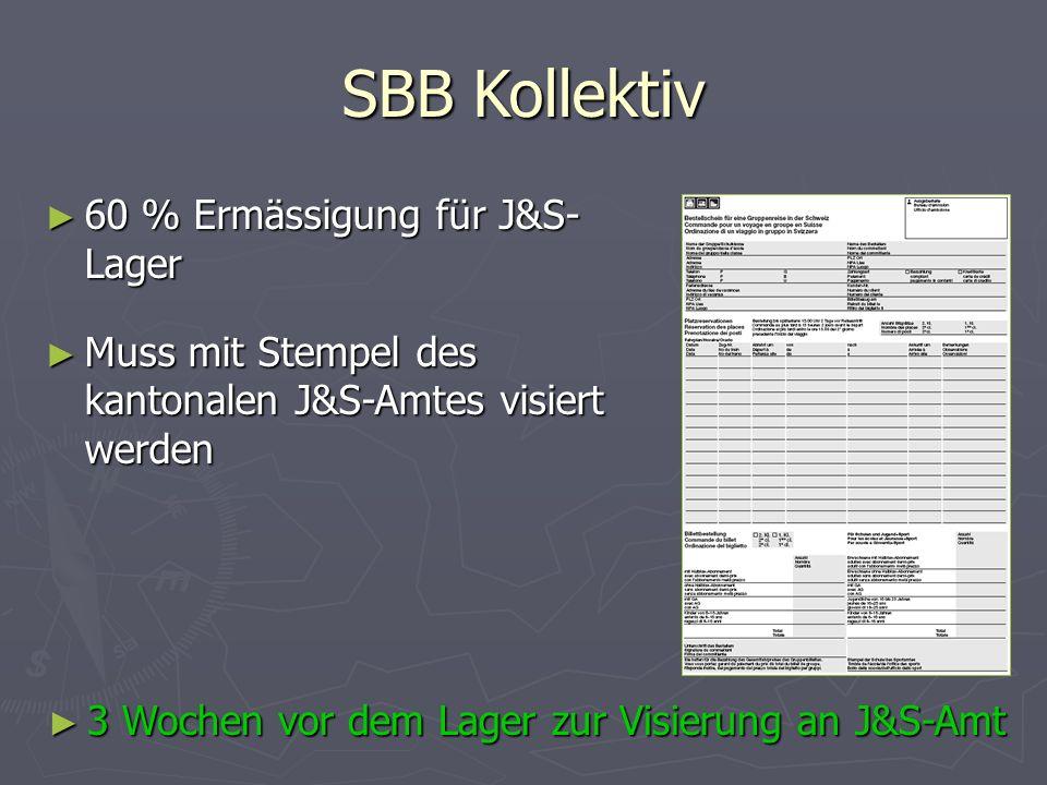 SBB Kollektiv 60 % Ermässigung für J&S-Lager