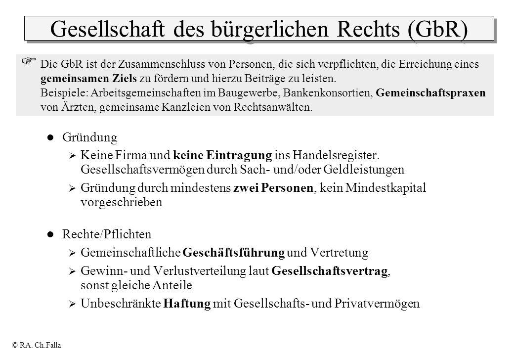 Gesellschaft des bürgerlichen Rechts (GbR)