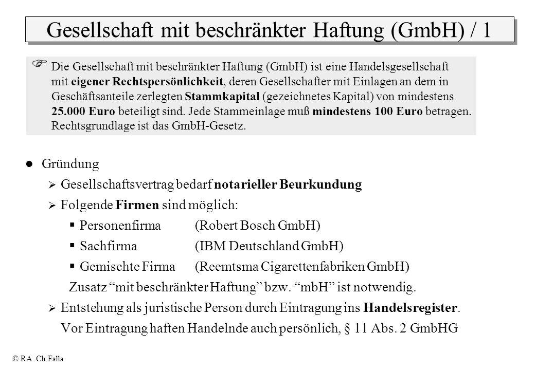 Gesellschaft mit beschränkter Haftung (GmbH) / 1