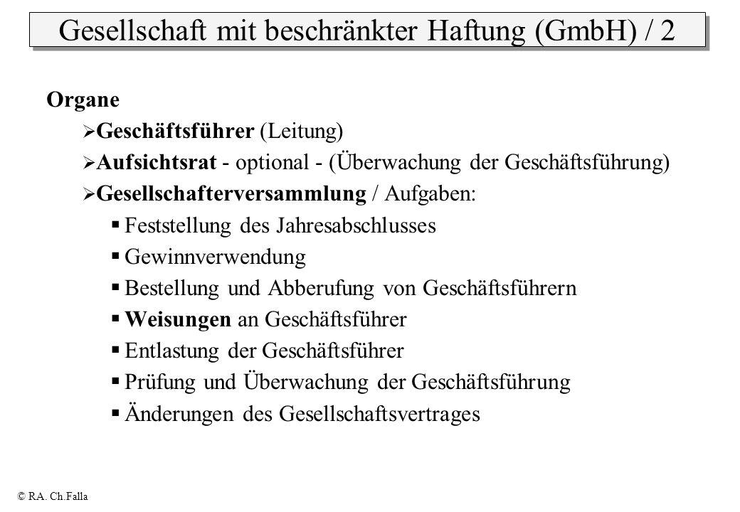 Gesellschaft mit beschränkter Haftung (GmbH) / 2
