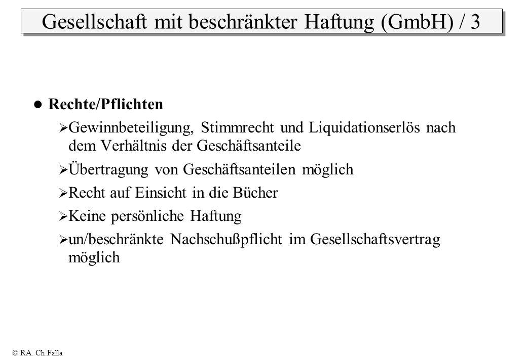 Gesellschaft mit beschränkter Haftung (GmbH) / 3