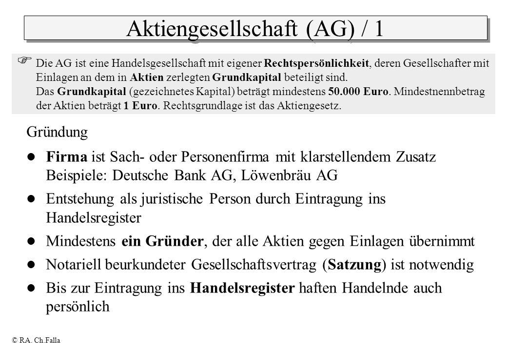 Aktiengesellschaft (AG) / 1