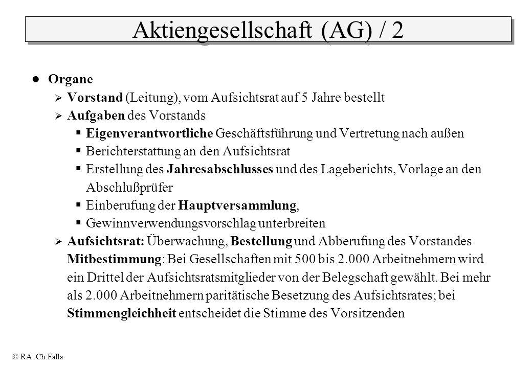 Aktiengesellschaft (AG) / 2