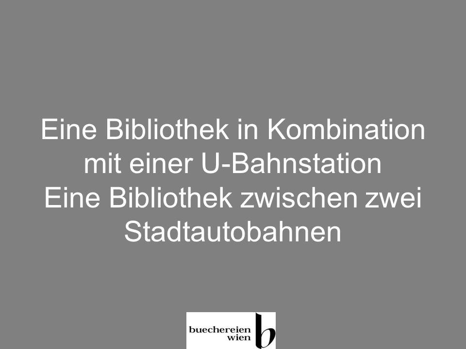 Eine Bibliothek in Kombination mit einer U-Bahnstation Eine Bibliothek zwischen zwei Stadtautobahnen