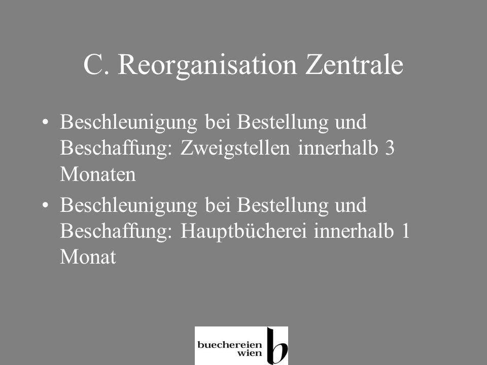 C. Reorganisation Zentrale