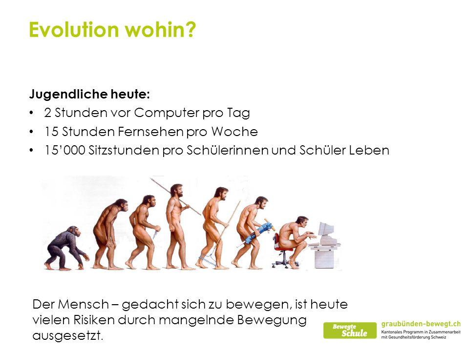 Evolution wohin Jugendliche heute: 2 Stunden vor Computer pro Tag