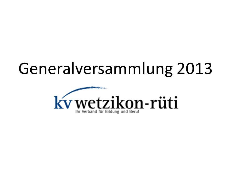 Generalversammlung 2013 PV