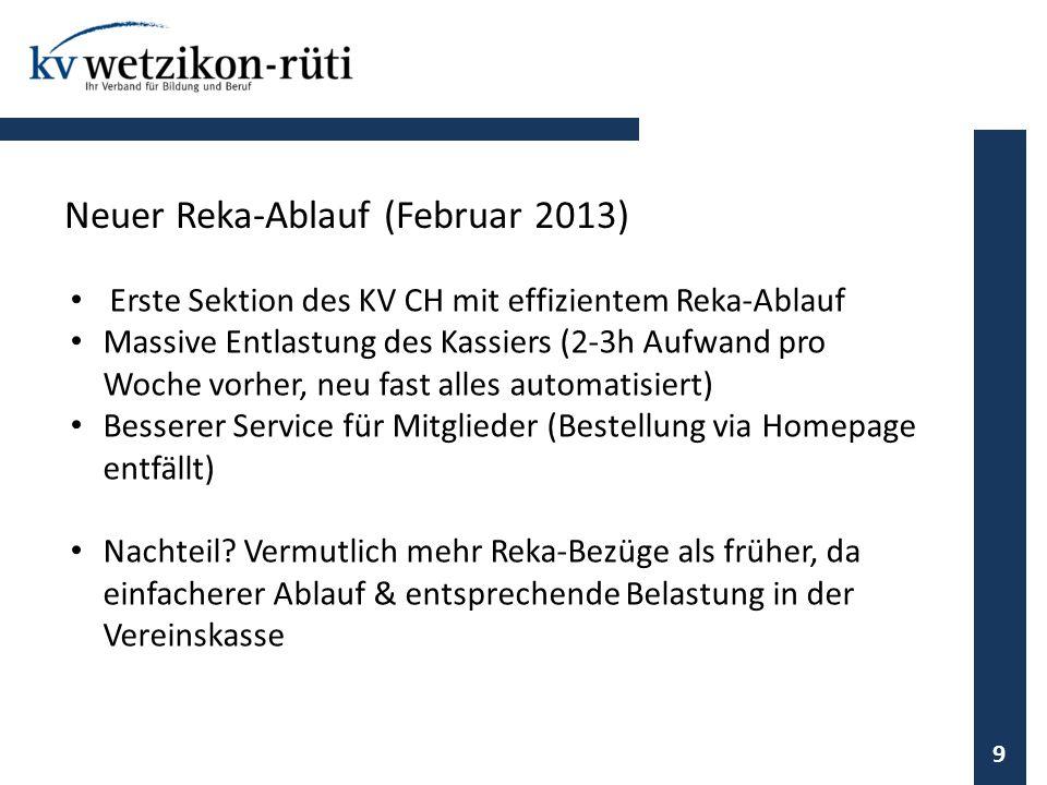 Neuer Reka-Ablauf (Februar 2013)
