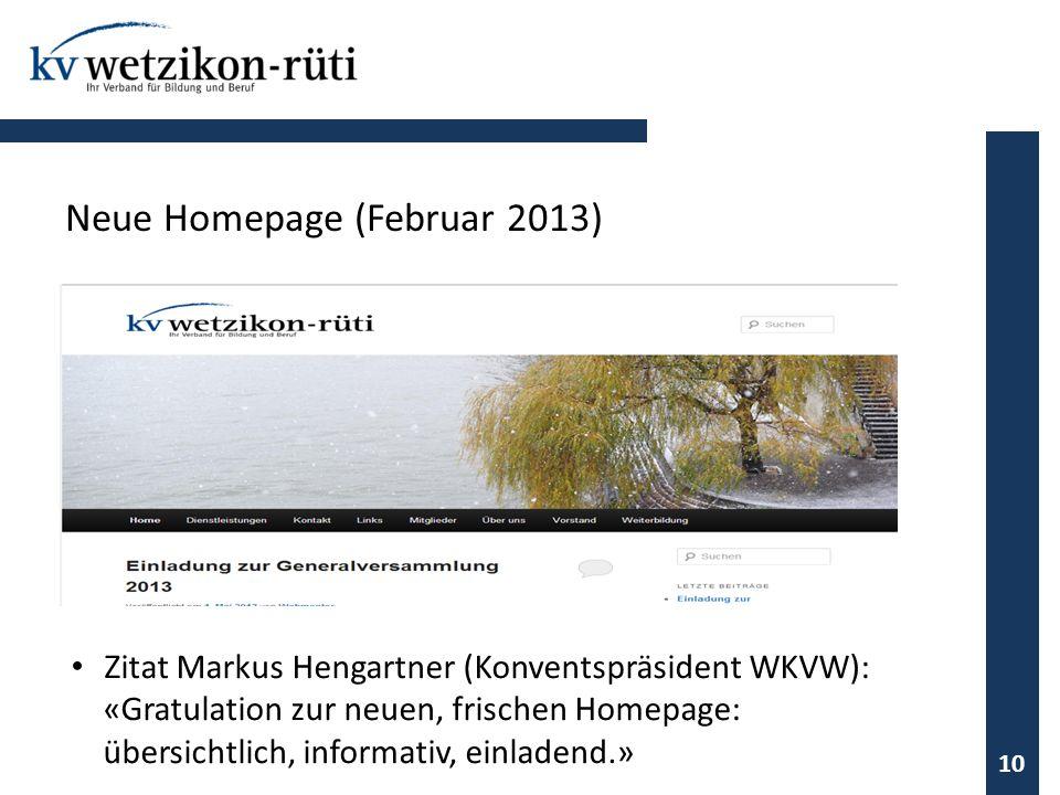 Neue Homepage (Februar 2013)