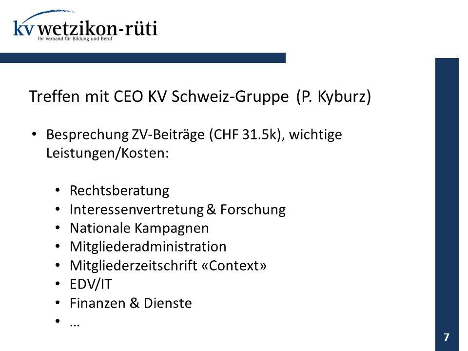 Treffen mit CEO KV Schweiz-Gruppe (P. Kyburz)