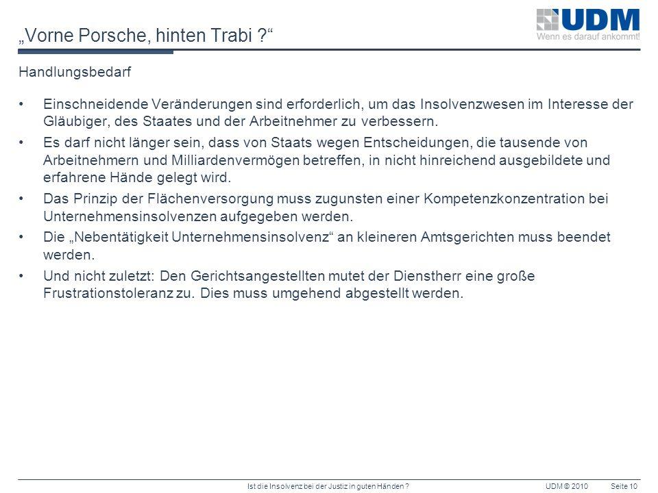 """""""Vorne Porsche, hinten Trabi"""
