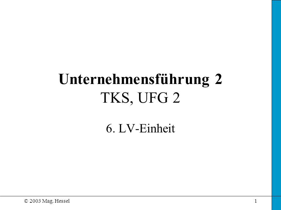 Unternehmensführung 2 TKS, UFG 2