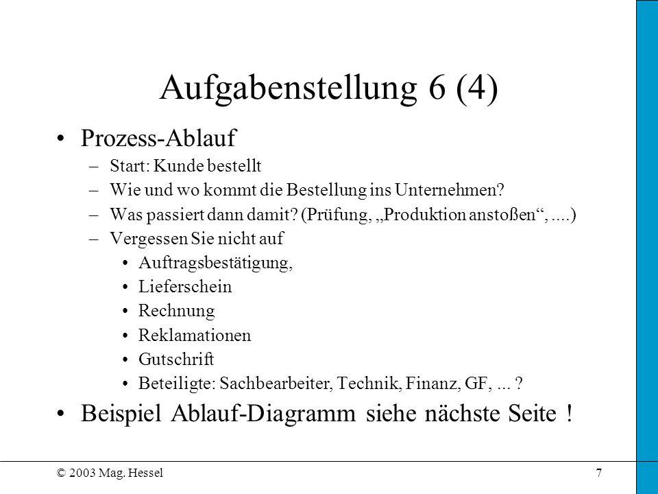 Aufgabenstellung 6 (4) Prozess-Ablauf