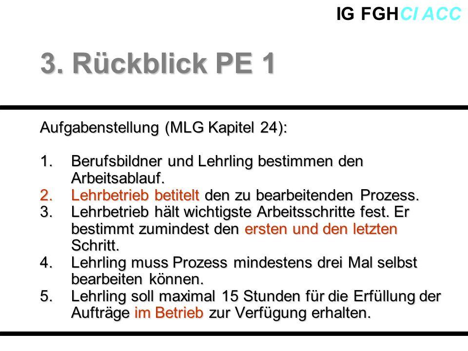 3. Rückblick PE 1 Aufgabenstellung (MLG Kapitel 24):