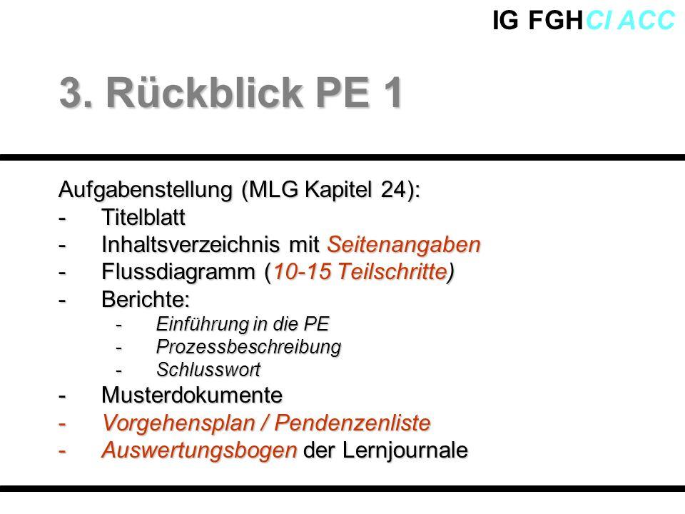 3. Rückblick PE 1 Aufgabenstellung (MLG Kapitel 24): Titelblatt