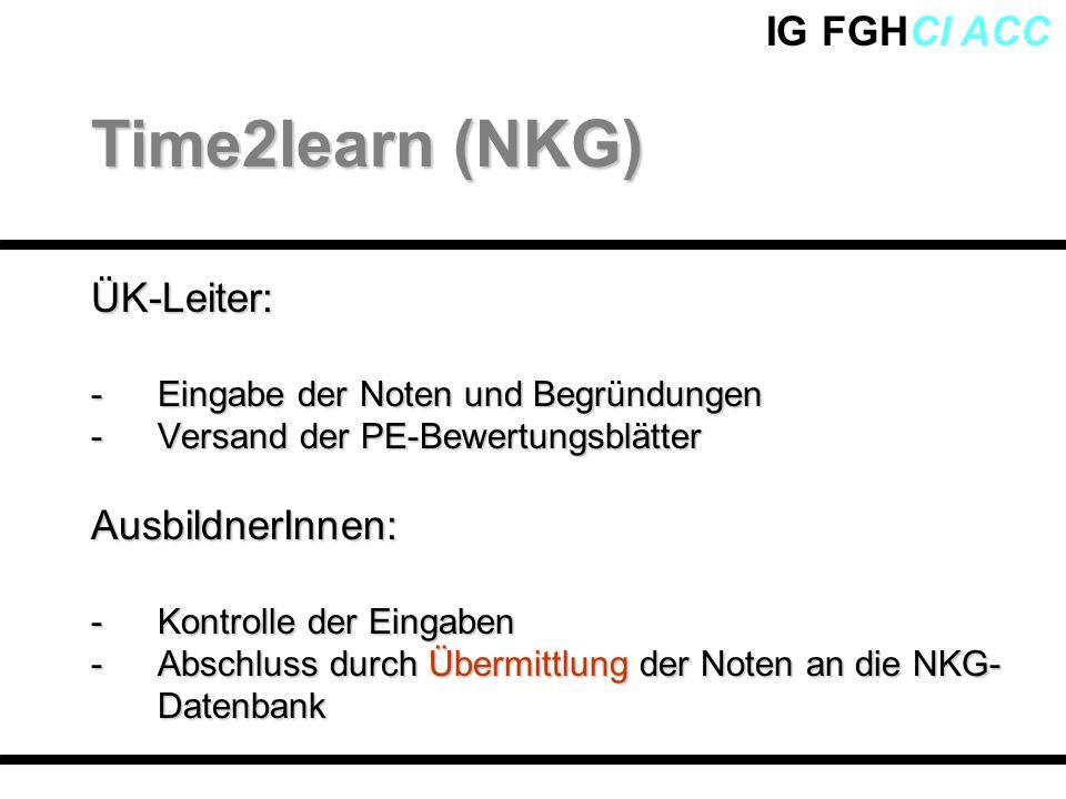 Time2learn (NKG) ÜK-Leiter: AusbildnerInnen: