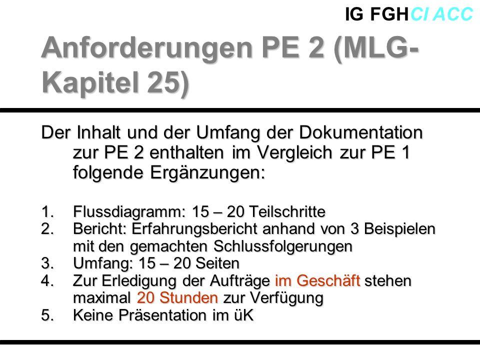Anforderungen PE 2 (MLG-Kapitel 25)