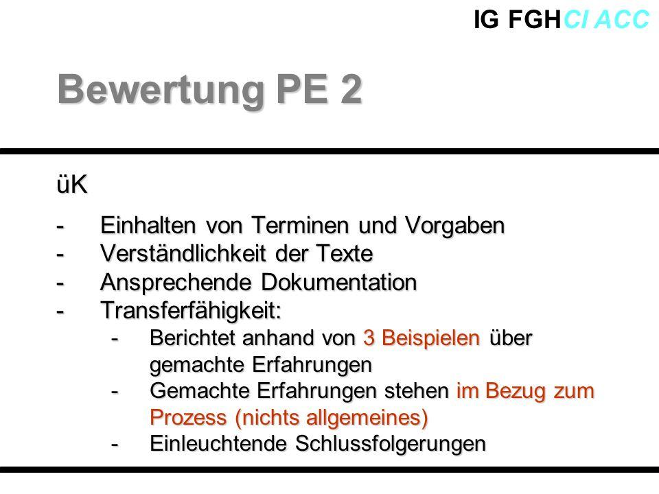 Bewertung PE 2 üK Einhalten von Terminen und Vorgaben