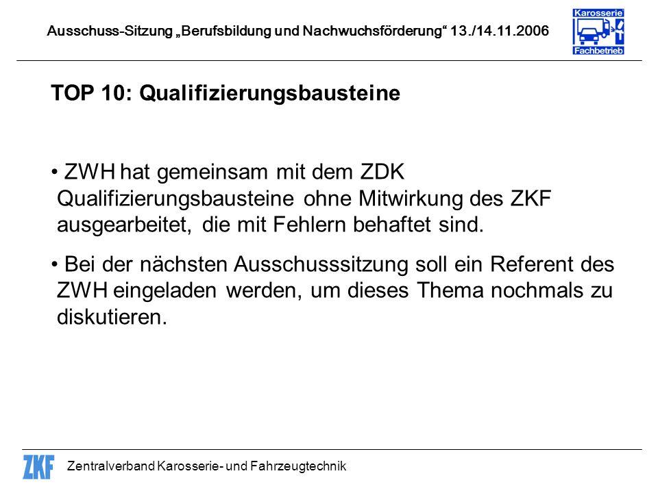 TOP 10: Qualifizierungsbausteine