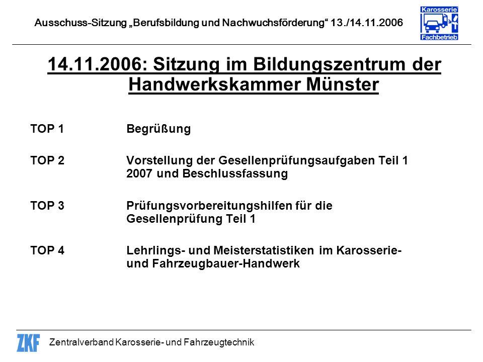 14.11.2006: Sitzung im Bildungszentrum der Handwerkskammer Münster