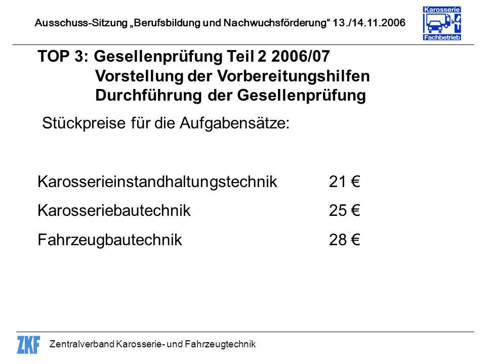TOP 3: Gesellenprüfung Teil 2 2006/07