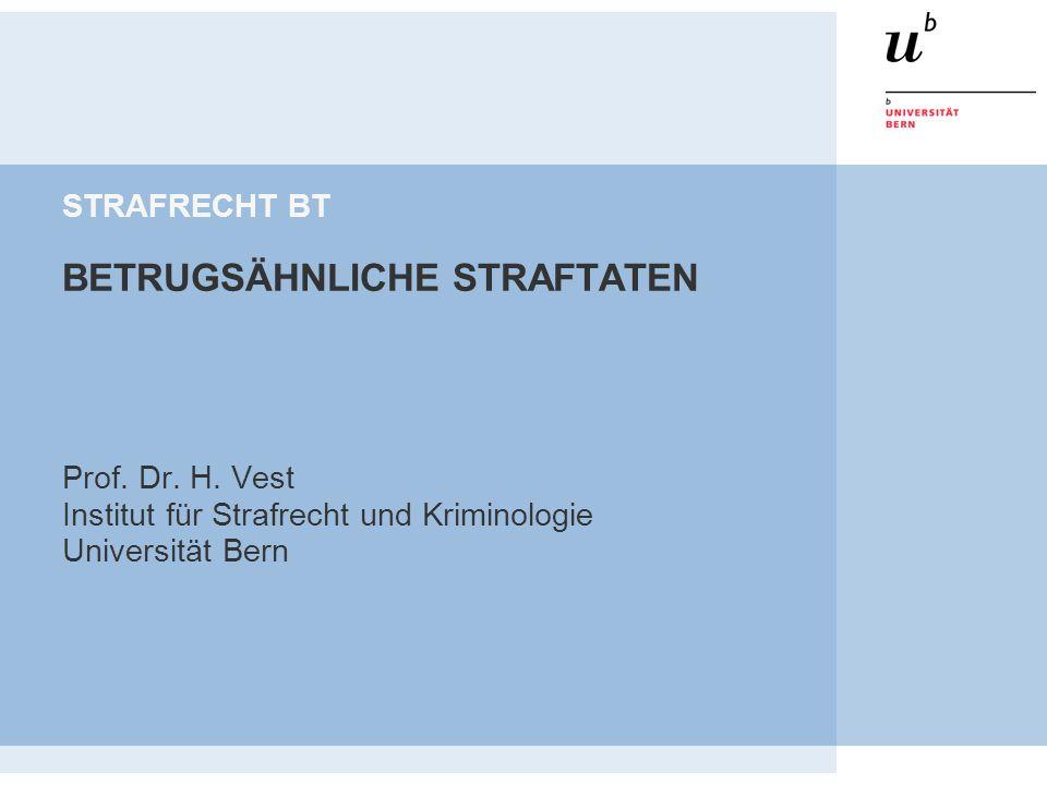 STRAFRECHT BT BETRUGSÄHNLICHE STRAFTATEN
