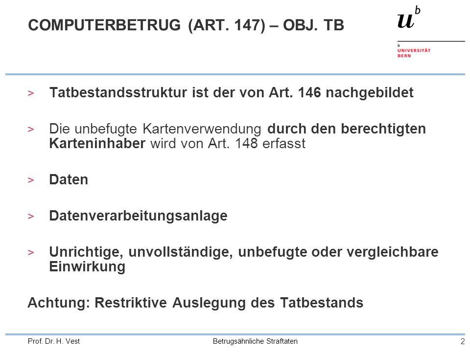 COMPUTERBETRUG (ART. 147) – OBJ. TB