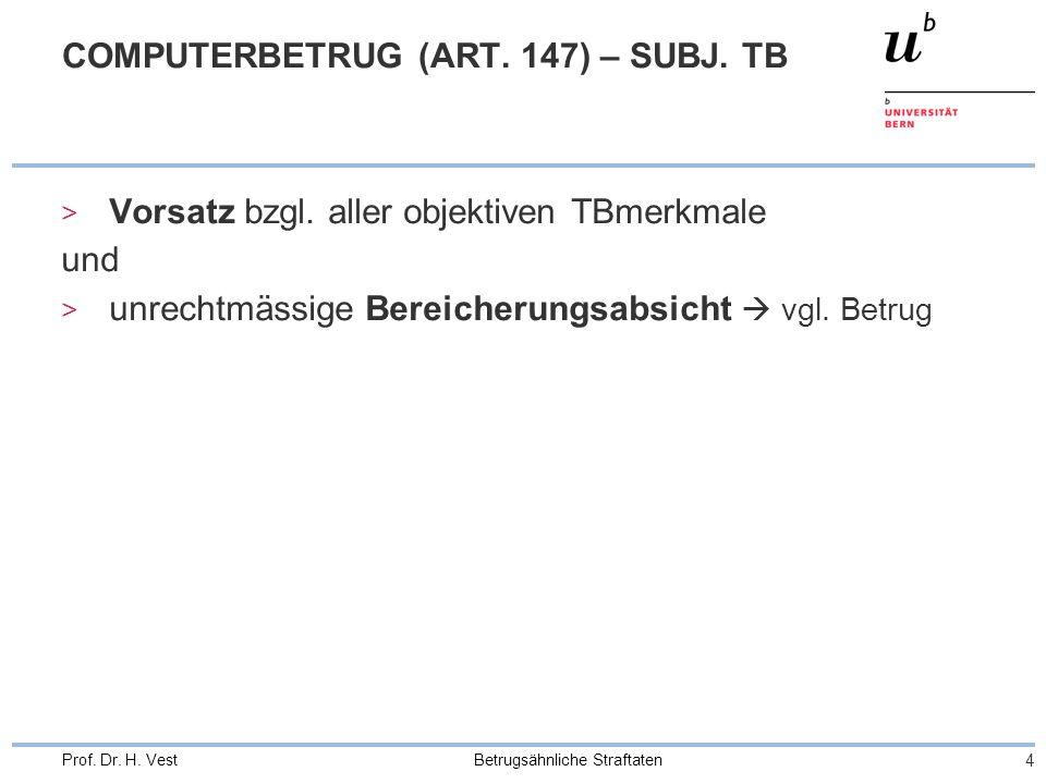 COMPUTERBETRUG (ART. 147) – SUBJ. TB