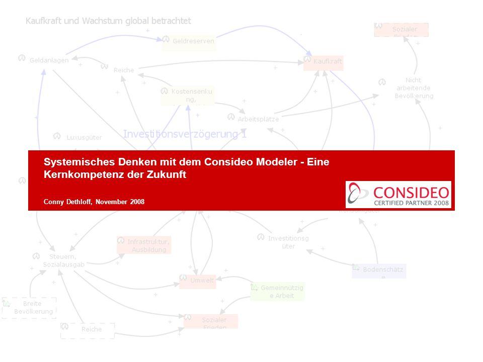 28.03.2017 Systemisches Denken mit dem Consideo Modeler - Eine Kernkompetenz der Zukunft. Conny Dethloff, November 2008.