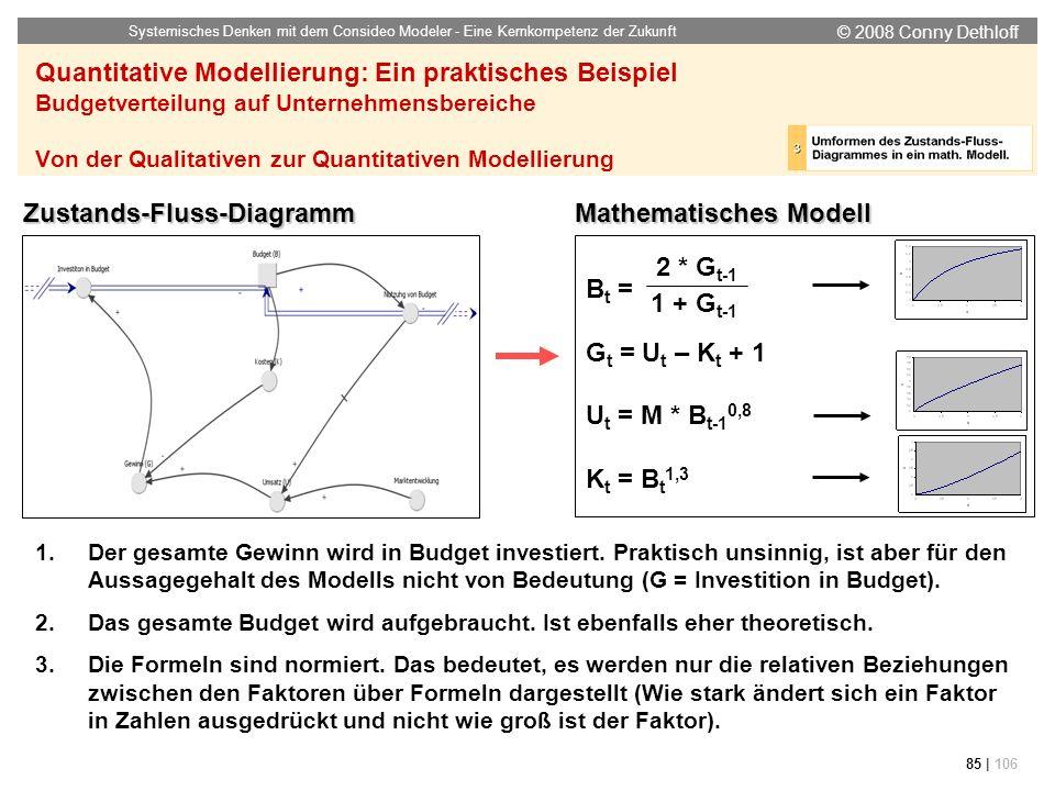 Zustands-Fluss-Diagramm Mathematisches Modell