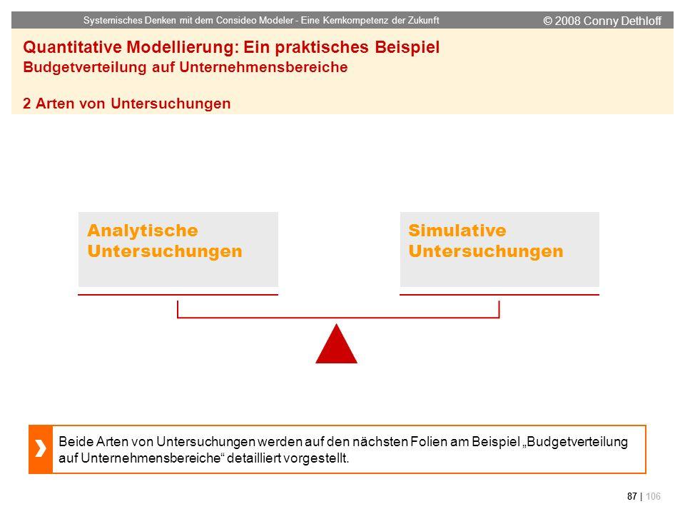 Analytische Untersuchungen Simulative Untersuchungen