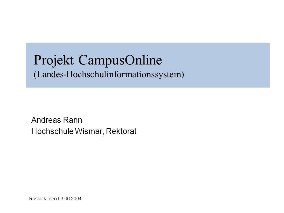 Projekt CampusOnline (Landes-Hochschulinformationssystem)