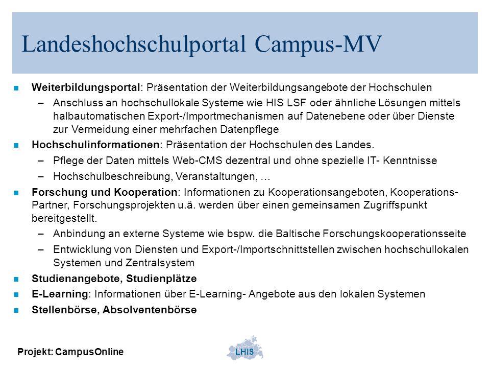 Landeshochschulportal Campus-MV